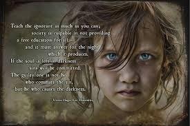 Les Misérables Quote Teach the Ignorant 1 Cosette by Wayne Moran