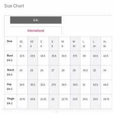 Victorias Secret Size Chart Clothing