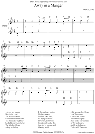 Away in a Manger: Easy piano sheet music by Christmas: Piano -