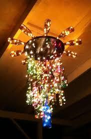 8 diy wine bottle chandelier