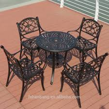 white iron garden furniture. Heavy Duty Outdoor Furniture Wholesale Dining Table And Chairs White Bronze Anodized Aluminum Metal Patio Iron Garden