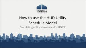 Hud Utility Schedule Model Calculating Utility Allowances
