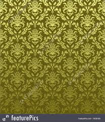 Gold Damask Background Gold Green Damask Pattern
