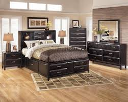 Ashley Furniture Canopy Bedroom Sets Bedroom Southampton Walnut 6 Pc King Canopy Bedroom From