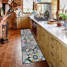 kitchen runner machine washable rug 52cm x 240 cm anti mite mat with non