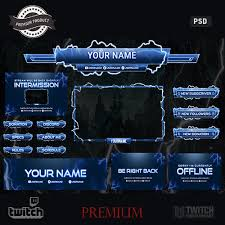 Blue Cyclone Twitch Overlay Template