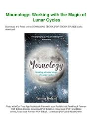 Ebook Moonology Working With The Magic Of Lunar Cycles Pdf