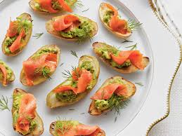 Nice Fingerling Potatoes With Avocado And Smoked Salmon