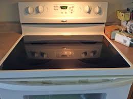 picture of a glass cooktop stove surface