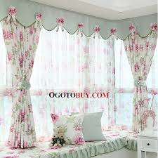 Window Valance Patterns New Polyester Purple Floral Pattern Privacy Bay Window Curtain Without