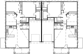 main floor plan 2 for d 459 one level duplex house plans ranch duplex