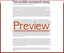 the crucible coursework essay coursework help the crucible coursework essay