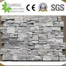 china natural grey stacked stone wall
