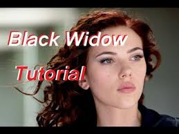 black widow scarlett johansson tutorial