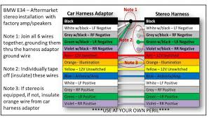 stereo wiring color diagram solidfonts 2006 nissan xterra a wiring schematic wire color code stereo tie
