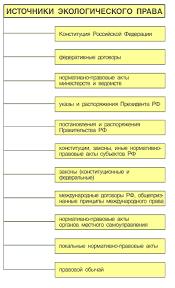 Реферат Источники Экологического права ru С хема