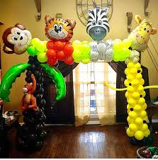 Jungle Theme Birthday Invitations Walking Animal Balloons Tropical Summer Safari Jungle Theme Birthday Party Decorations Aluminum Balloon Digit Number