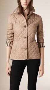 Burberry Diamond Quilted Jacket in Natural | Lyst & Gallery Adamdwight.com