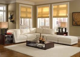 Cozy White Color Scheme L Shaped Fabric Sofa Design for Small Interior  Apartment with Low Style. Cozy Living RoomsLiving Room ...