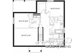 1 story house plans for narrow lots