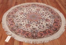 round silk and wool tabriz persian rug 49558 whole nazmiyal