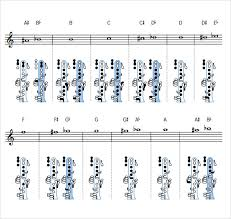 Sample Clarinet Fingering Chart 15 Free Documents In Pdf