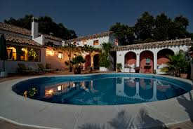 home swimming pools at night. Night Villa Mansion House Home Pool Swimming Property Leisure Resort Estate Hacienda Town Pools At N