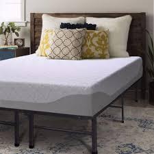 Shop Queen size Gel Memory Foam Mattress 9 inch with Bed Frame Set ...