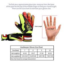 Youth Soccer Goalie Gloves Size Chart Goalie Goalkeeper Gloves For Youth And Adult With Strong Grip And Finger Spines Protection Black Latex Soccer Keeper Glove For Men And Women