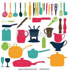 kitchen utensils silhouette vector free. Kitchen Utensils Silhouette Vector Free