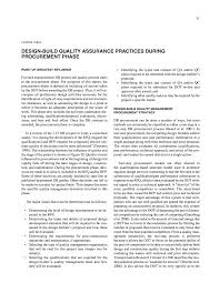 Design Quality Assurance Plan Chapter Three Design Build Quality Assurance Practices
