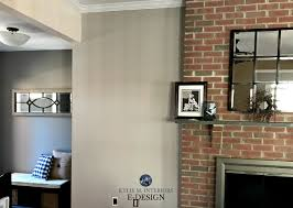 red brick fireplace best paint colour sherwin williams anew gray and dovetail kylie m interiors e design paint color consultant