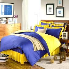 2 solid color patchwork bedding set quilt cover yellow green blue pink ruffleblue and toile duvet