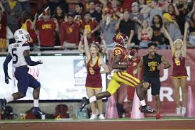 Arizona Football Depth Chart Kedon Slovis And Usc Defense Lead 41 14 Win Over Arizona