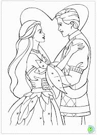 swan lake barbie colouring pages