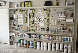 diy garage pegboard storage wall using only 5 5 inches in depth the creativity exchange