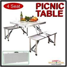 Buy 4 Seats Portable Folding Aluminium Picnic Table Online Best