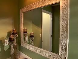 Framing A Large Bathroom Mirror Frame Around Large Bathroom Mirror