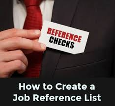How To Create A Reference List For A Resume Sample Job Reference List List Of Jobs Reference Page For