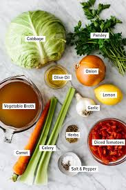 Cabbage soup is a savory vegetable soup made with carrots, celery, onions, cabbage, diced tomato and spices. Best Cabbage Soup Downshiftology
