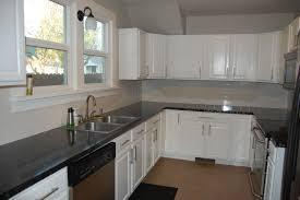 home design growth white cabinets grey countertops kitchen tour josh maria s pristine renovation stools
