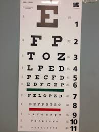 Driver S License Eye Exam Chart Eye Chart My Best Contacts