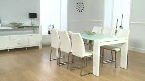 High Gloss Dining Table Cannes White High Gloss Dining Table Ofstv Youtube