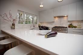 Bright Your Kitchen With Sparkling White Quartz Countertop6