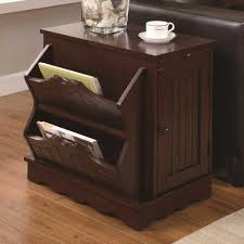 dark wood end tables with storage  outdoor patio tables ideas