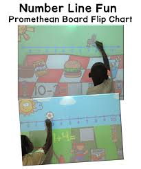 Interactive Whiteboard Flip Charts Number Line Fun Promethean Board Flip Chart A Teacher In