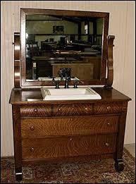 bathroom vanities vintage style. Antique Bathroom Vanity: Empire Style American Dresser With Kohler Sink...Hmmm Vanities Vintage