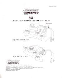Sweeney Rsl Torque Chart Manuals