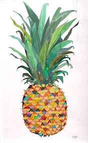 realistic pineapple drawing. roxy pineapple! have you seen the shirt? realistic pineapple drawing