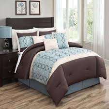 chocolate brown and blue comforter sets cole 7 pc set by luxury bedding co piece 8